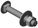 CB-123 Carriage Bolt 1/2 x 3 inch Assembly